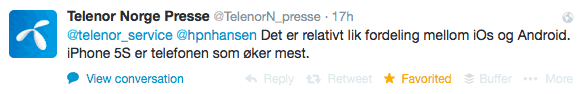 telenor-twitter-ios-android-salg-norge