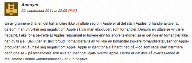 anonym-iphone-apple-forhandler-avtale-negativ-omtale-forbudt