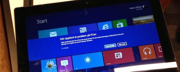 """""""Det oppstod et problem på PCen...."""""""