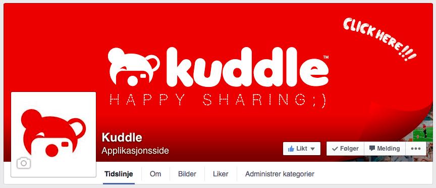 Klikk på bildet for å gå til Facebook-siden til Kuddle.