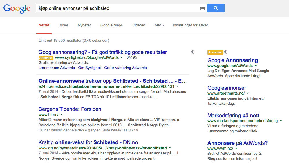 google-annonser-schibsted