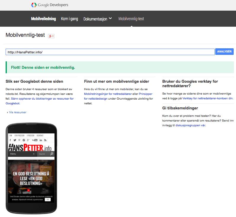 Google-mobilvennlig-test-hanspetter