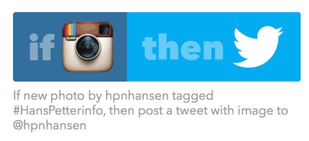 IFTTT-Instagram-Twitter-oppskrift