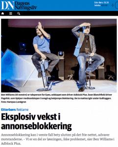 Faksimile fra Dagens Næringsliv april 2015.