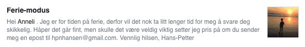 Facebook-melding-feriemodus-hanspetter