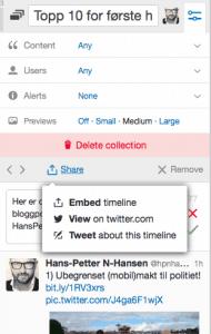 Dele-Twitter-samling
