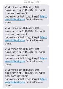 BilBuddy-SMS-juni-2015
