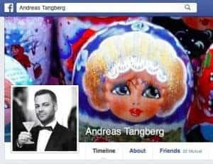 Faksimile fra Facebook-profilen til Andreas Tangberg.