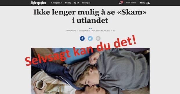 NRK SKAM utlandet VPN