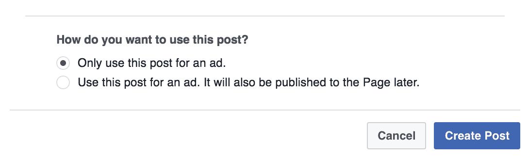 Dark ads